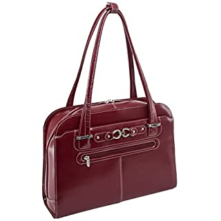 """McKlein, W Series, Oak Grove, Top Grain Cowhide Leather, 15"""" Leather Fly-Through Checkpoint-Friendly Ladies' Laptop Briefcase, Red (96636) (B0044UOHEC)   Amazon price tracker / tracking, Amazon price history charts, Amazon price watches, Amazon price drop alerts"""