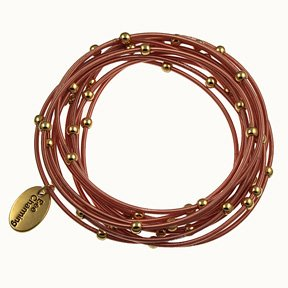 Amazoncom Piano Wire Bracelet RoseGold Color Jewelry Jewelry