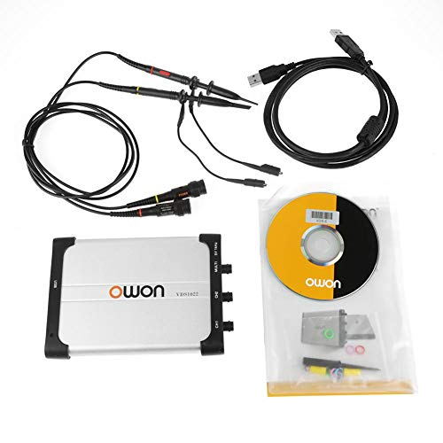 Akozon Vds1022 Double Channel PC Based USB Digital Storage Oscilloscope, 25 MHz Bandwidth