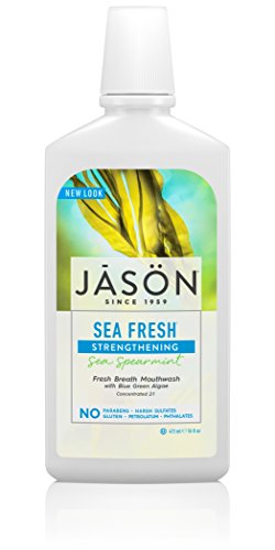 (JASON Sea Fresh Strengthening Mouthwash, Sea Spearmint, 16 oz. (Packaging May Vary))