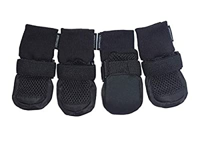 LONSUNEER Dog Boots Breathable Protect Paws Soft Nonslip Soles in 5 Sizes by Lifeful