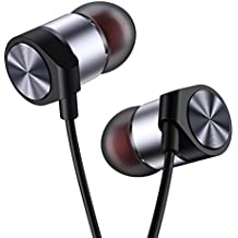 In Ear Headphones Maxtronic Metasonic Earbuds with Line-in Microphone Heavy Bass Dynamic Driver Earphones with Non Tangle Fabric Braid For Running Gym iOS Android Phones Music Player iPhone