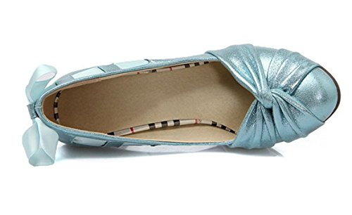 Donne YCMDM di New Shoes bocca poco profonda singoli pattini di moda cantieri di grandi dimensioni , blue , 37