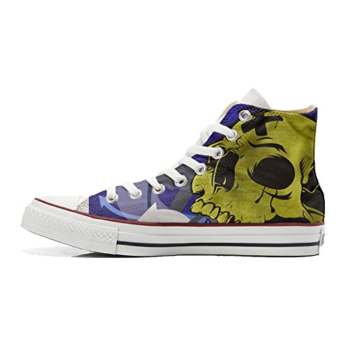Converse All Star zapatos personalizados (Producto Handmade) el cráneo