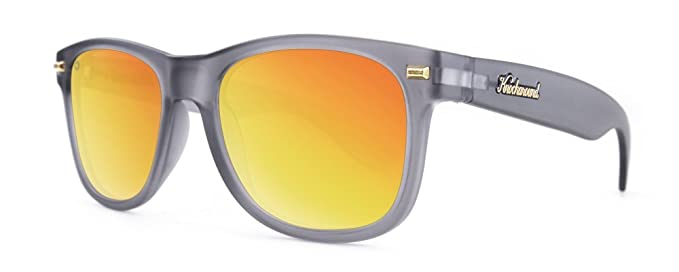 Gafas de sol Knockaround Fort Knocks Frosted Grey / Red Sunset Polarizadas