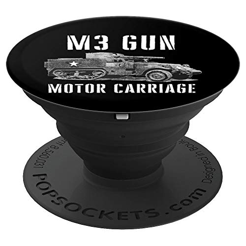 (M3 Gun Motor Carriage GMC WW2 Gift PopSockets Grip and Stand for Phones and Tablets)