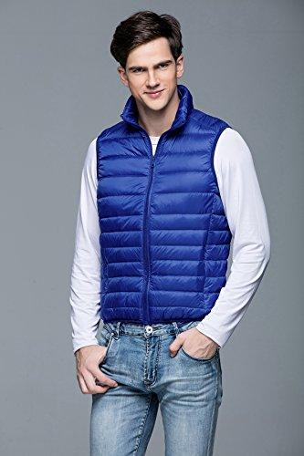Doudoune Bleu Manteaux Veste Légère Chaud Gilet Sport De Tt Homme Global Sans Manche Automne Manteau Loisirs Ultra D'hiver Manches Padded Blouson 88XROq0p
