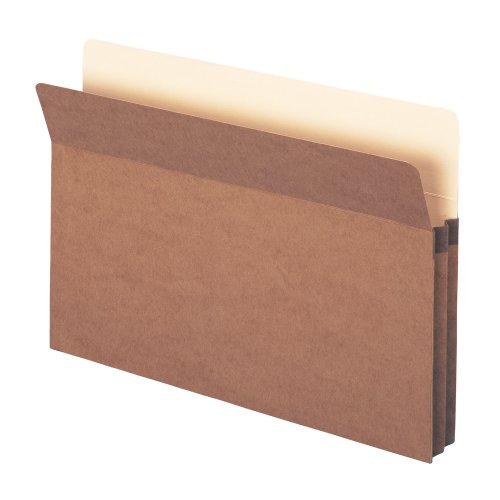 "File Pocket, Straight-Cut Tab, 1-3/4"" Expansion, Legal Size, Redrope, 25 per Box (74214) Photo #1"