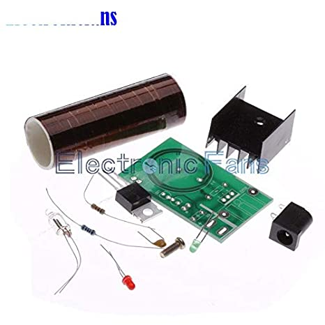 DC12V Electronic Tesla Coil Tesla Transmission Kit Mini Tesla Coil for Igniting for Student Experiments for Wirelessly Transmit Electricity, Finished Product
