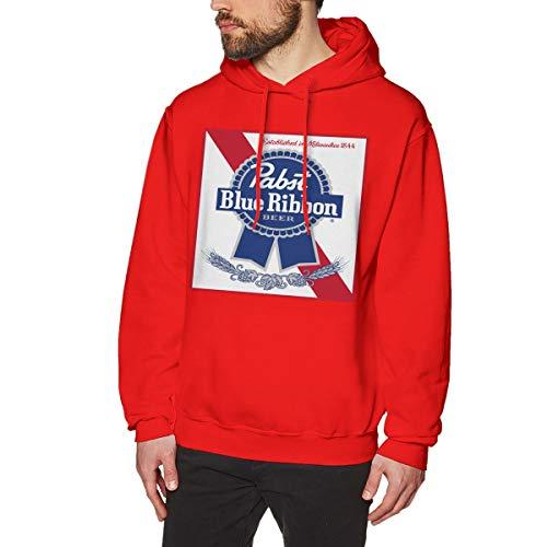 (Pabst Blue Ribbon Beer Logo Men's Hoodies Pullover Hooded Sweatshirt Jackets)