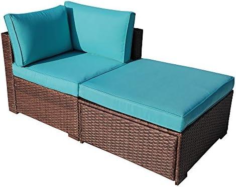 OC Orange-Casual 2 Piece Patio Sectional Furniture Set