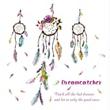 fine accent wall colours hwhz Stylish Dream Catcher PVC Art Decal Mural Color Feather Wall Sticker Removable Stylish Fine Wall Sticker