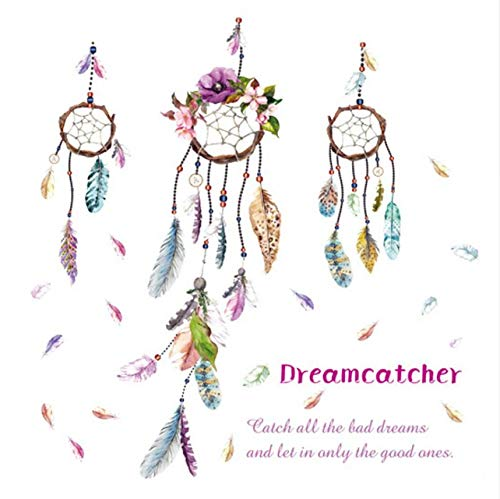 hwhz Stylish Dream Catcher PVC Art Decal Mural Color Feather Wall Sticker Removable Stylish Fine Wall Sticker