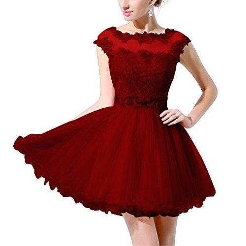 Rosa Linie A Spitzen 36 Tüll Perlen zurück Mädchen durch Abendkleid mit Watermelon Ballkleider Aiyana Kurz siehe Blau fur Elegantes tEq1zw7