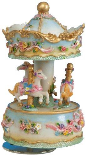Musicbox Kingdom 14139Carrusel con flores caja de música jugar 'para Elisa'