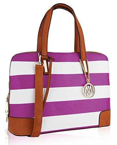 Gandhia Collection by Purple Bag Satchel Farrow Mia K Designer MKF 5xw7Xdpx