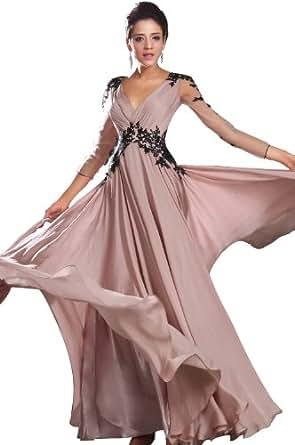eDressit New Sexy V-neck Black Lace Evening Dress(02130201)