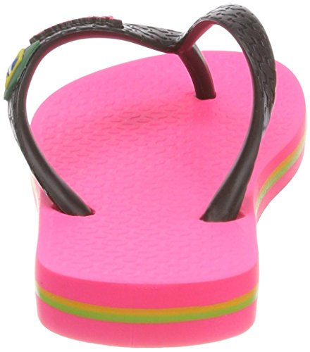 Ipanema Mädchen Classic Brasil Ii Kids Zehentrenner Mehrfarbig (Pink/Black)
