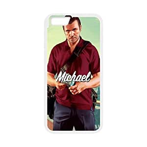 Grand Theft Auto V GTA Rockstar iPhone 6 6s Plus 5.5 Inch Cell Phone Case White Custom Made pp7gy_3363018
