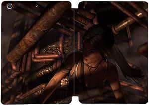 Cubierta de cuero y caja de la PC funda / soporte para funda de Apple iPad Mini 1,2,3 funda Con Magnetic reposo automático Función de despertador DIY por Tomb Raider R2H5Qo7V4Sk