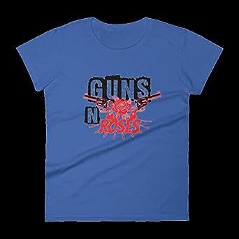 Gharzat Blue Round Neck T-Shirt For Women