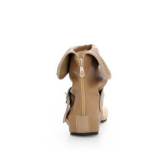 Adee - Sandalias de vestir para mujer caqui