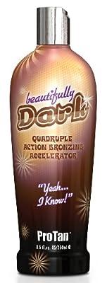 ProTan Pro Tan Beautifully Dark Bronzer Indoor Tanning Salon Bronzing Tan Lotion 8.5 Ounce