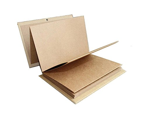 Stretchable Folding DIY Photo Album 11 x 8 inches Large Size A4 Notebook Hardcover Kraft Paper Scrapbook Anniversary Sketchbook Wedding Guest Book Birthday Valentine Gift Student Graduation Album