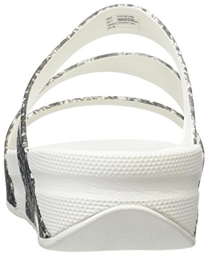 Fitflop Superjelly Twist Snake - Sandalias Mujer Multicolor (Black/white)