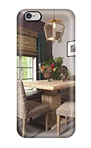 [tnShSvK3097wvUBB]premium Phone Case For Iphone 6 Plus/ Breakfast Nook With Neutral Grey Paint And Wicker Chairs Tpu Case Cover