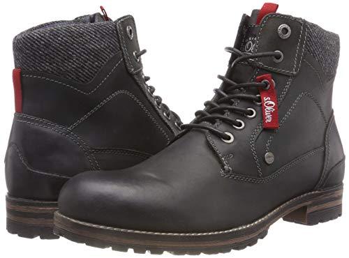 S Hombre 15220 Militar black Negro 1 001 Para 5 21 oliver Botas 5 6wqz6HFr