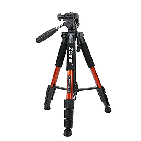 ZOMEI Q111 Portable Professional Light Weight Traveler Tripod with Pan Head for Camera DSLR DV Canon Nikon Sony, Orange