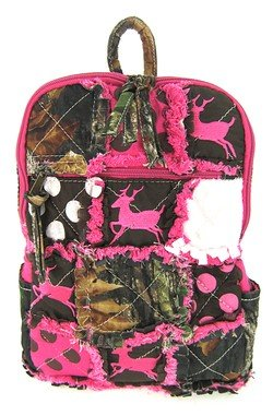 Amazon.com | Cute! Patchwork Camo Deer Small Backpack Purse Pink ...