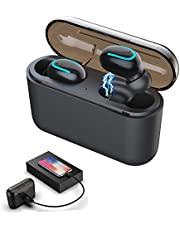 7855c4d56f4 Auking Auriculares Bluetooth V5.0 Auriculares Inalámbricos Bluetooth Mini  Twins Estéreo In-Ear con