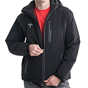 Tesla Motors Men's Soft Shell Jacket (Small, Black)