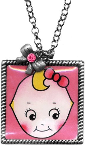 Cutie Pie Kewpie Doll Rope Frame Necklace from Sourpuss Clothing