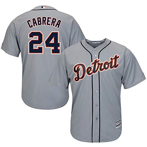 Cabrera Jersey - '47 Detroit Tigers Baseball Jersey #24 Cabrera Player Cool Base Sportswear Shirt for Men Women Kids Youth
