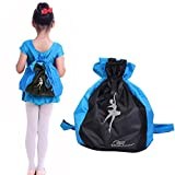 Greenery Elegant Waterproof Dance Bags Adjustable Shoulder-strap Drawstring Closure Dance Backpack for Kids Girls Boys with the height of 1-1.6m (Blue + Black) For Sale