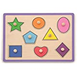 8 pcs Shapes Puzzle with Wooden knobs