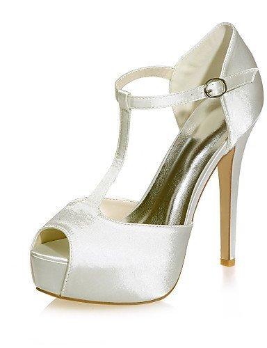 ShangYi Schuh Damen - Hochzeitsschuhe - Zehenfrei - Sandalen - Hochzeit / Party & Festivität -Schwarz / Blau / Lila / Elfenbein / Weiß / Silber / , 5in & over-silver