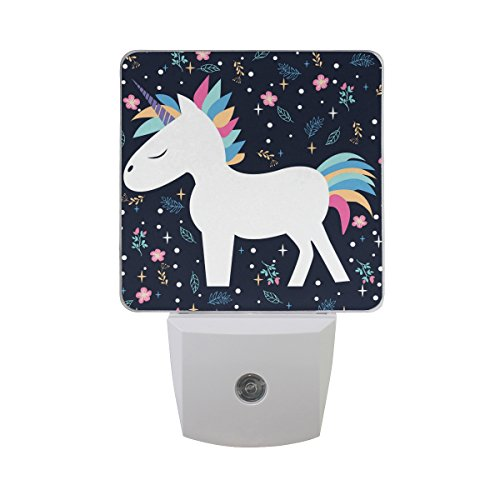 JOYPRINT Led Night Light Cute Floral Animal Unicorn, Auto Senor Dusk to Dawn Night Light Plug in for Kids Baby Girls Boys Adults Room by JOYPRINT