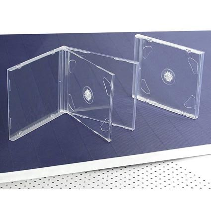 amazon com 10 standard clear double cd jewel case electronics
