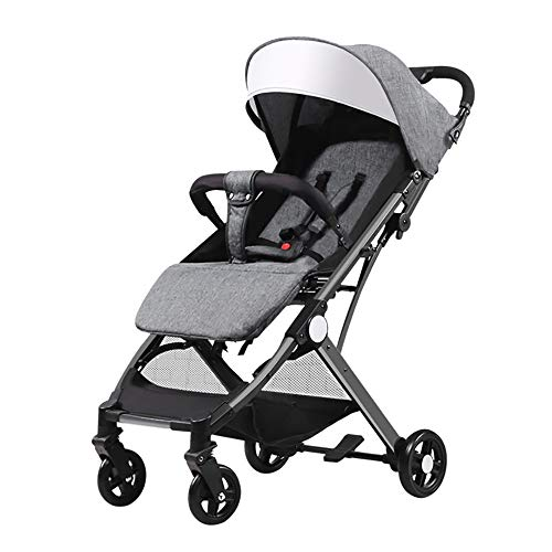 (Strollers, Slim Folding Pushchair 4-Wheeler Baby Stroller Compact and Lightweight Travel System Buggy Easy and Compact Folding Sport Stroller for Children from Birth 25 kg)