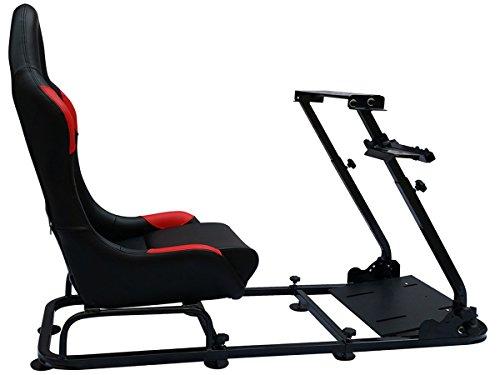 FK Automotive - Sillón para juegos de ordenador y consola (piel sintética), color negro y rojo: Amazon.es: Videojuegos