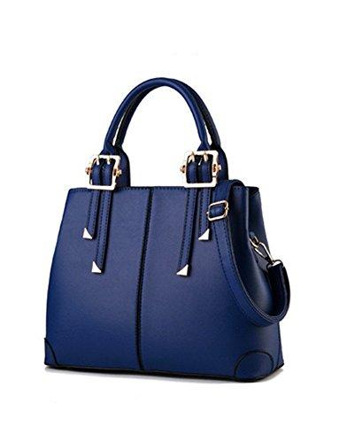 Soild De Cuerpo Cruz Mujeres PU qckj New azul Bolsa Hombro Fashion oscuro bolso q1X8AAw