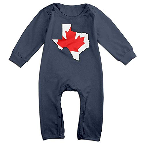 TYLER DEAN Toddler Baby Boy Girl Jumpsuit Canada Flag Texas Map Baby Clothes Navy]()