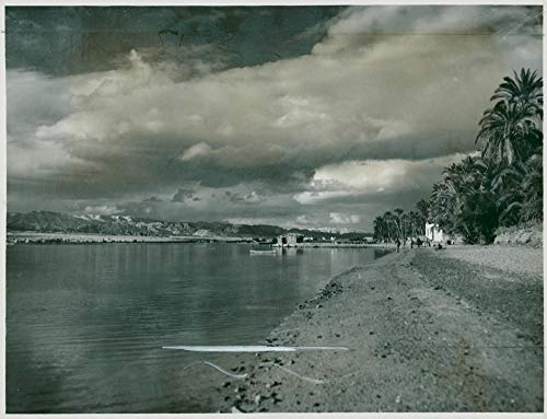 Vintage photo of Port of Aqaba Jordan