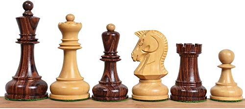 RoyalChessMall 1970 'Dubrovnik Chess Pieces Only Set – Triple Rosewood ponderado – 3.8 «King