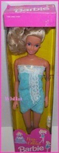 Barbie 1992 Fun to Dress Blue Bath Towel Wrap Doll
