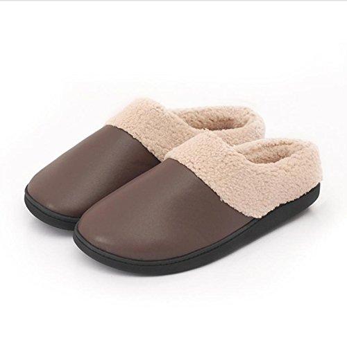 Men Warm Fluff Slippers Non Slip House Indoor Export Cotton Shoes 41